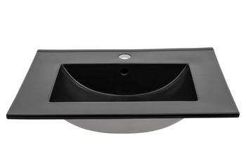 LAVA BLACK 60 DP - Umywalka meblowa 60 cm ceramiczna