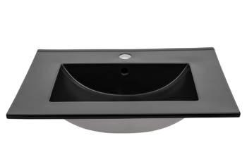LAVA BLACK 80 DP - Umywalka meblowa 80 cm ceramiczna podwójnie pakowana