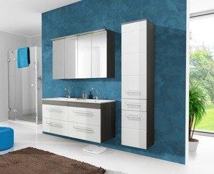 Nowoczesne meble łazienkowe Cosmo II 120 cm z podwójną umywalką