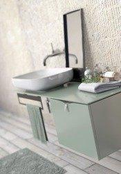 Oristo Szafka z umywalką 50 cm i blatem SIENA polny zielony mat