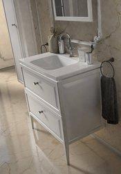 Oristo Szafka z umywalką MONTEBIANCO 80 cm biała + słupek + lustro