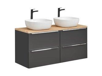 Podwójna szafka z umywalką 120 cm i blatem Capri Cosmos 820