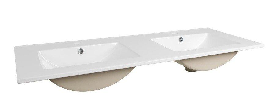 Nowoczesna szafka z umywalką 120cm biały połysk Galaxy White