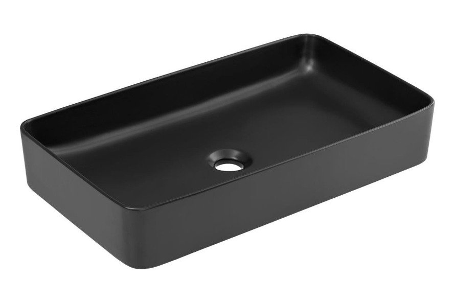 Nowoczesna umywalka E-6275 MATT BLACK