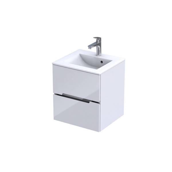 Oristo Szafka pod umywalkę 50 cm Silver biała