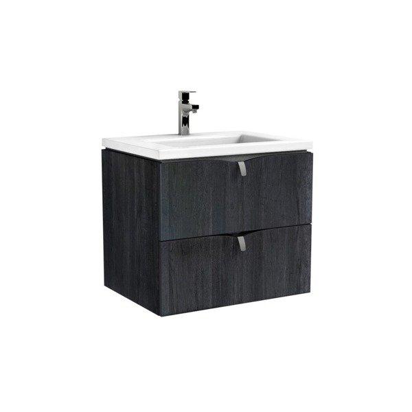 Oristo Szafka pod umywalkę 60 cm SIENA dąb czarny