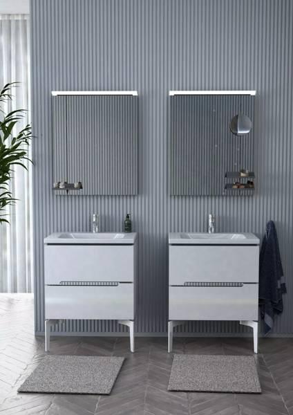 Oristo Szafka pod umywalkę 60 cm Silver biała