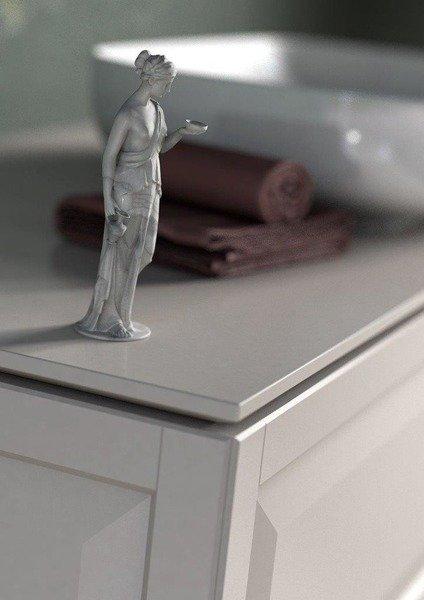Oristo Szafka z umywalką MONTEBIANCO 80 cm biała + nogi
