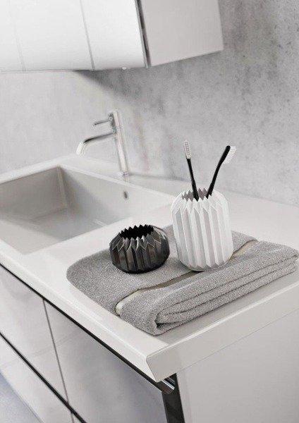 Oristo Szafki z umywalką 125 cm BRYLANT białe L