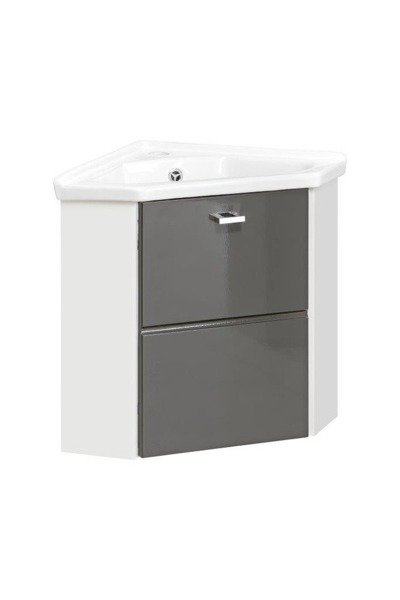 Szafka pod umywalkę narożna 40 cm Finka Grey