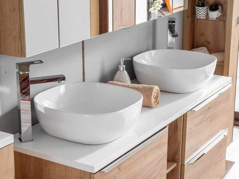 Szafka z umywalką 60 cm Capri dąb 820