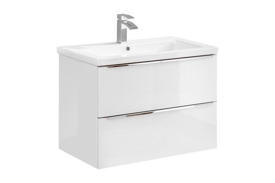 Szafka z umywalką 80 cm Capri biały 821