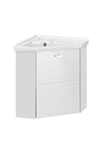 Szafka z umywalką narożna 40 cm Finka White
