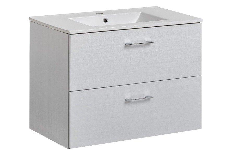 Wisząca szafka z umywalką 80 cm Viento Terra połysk
