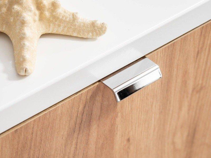 Zestaw mebli łazienkowych 140 cm Capri dąb z białym blatem