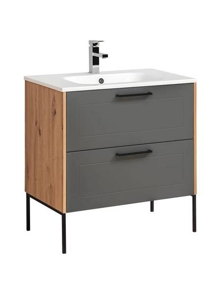 Zestaw mebli łazienkowych Madera Grey 80 cm