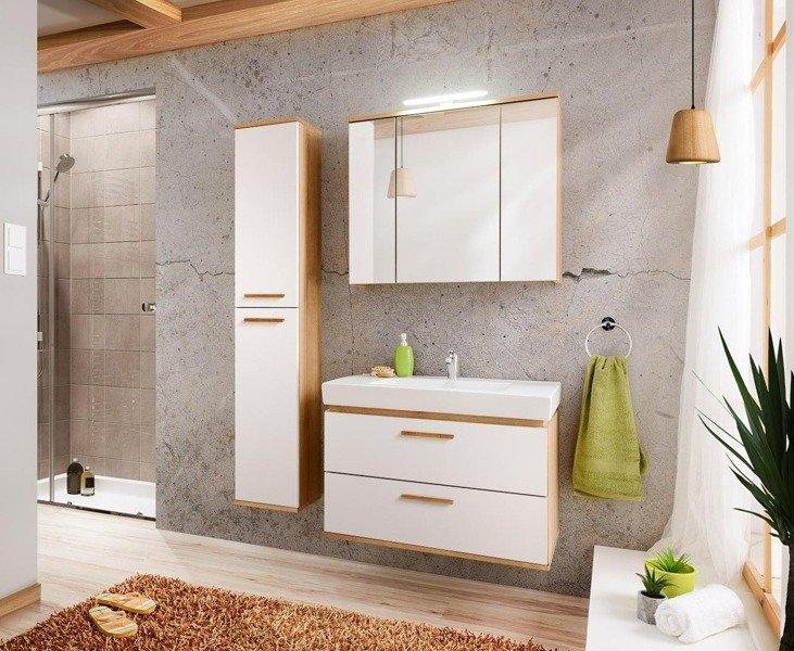 Zestaw mebli łazienkowych Remik Riviera / biały 80 cm